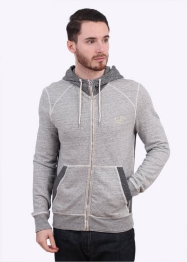 C.P. Company Hooded Zip Sweater - Grey