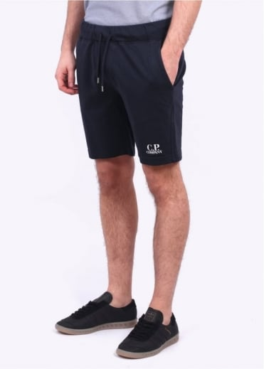 C.P. Company Fleece Logo Shorts - Blue Night