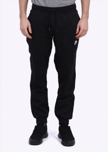 Nike Apparel AW77 Cuffed Fleece Pant - Black / White