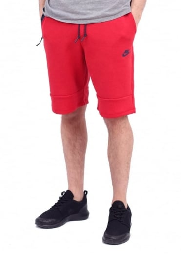 Nike Apparel Tech Fleece Shorts - University Red