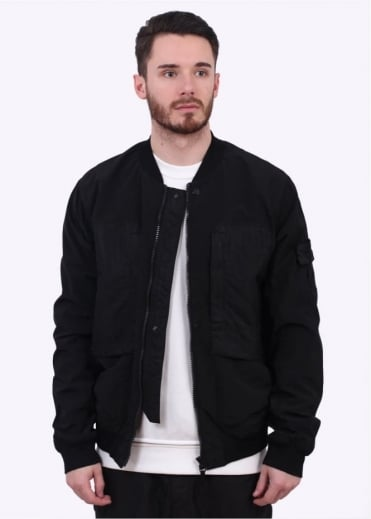 Stone Island Shadow Project Silon DPM Grid Jacquard II Bomber Jacket - Black