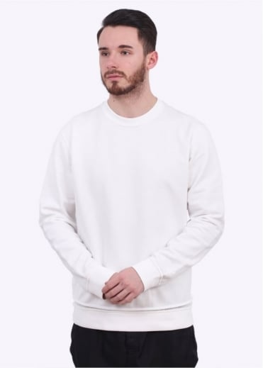 Stone Island Shadow Project Grid Crew Sweater - White
