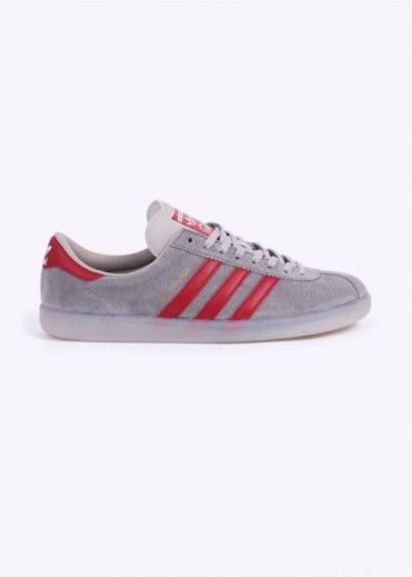 Adidas Originals Spezial SPZL Hochelaga Trainers - Light Onix / Power Red