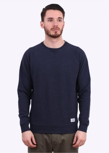 Norse Projects Ketel Crew Sweater - Navy
