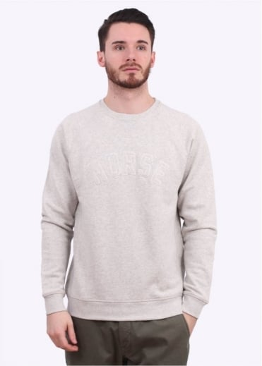 Norse Projects Ketel Logo Sweater - Light Grey