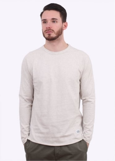 Norse Projects Aske Perforated LS Tee - Ecru