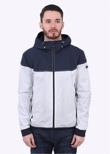 Hugo Boss Green Jaxton Jacket - White