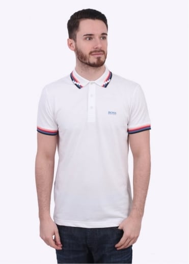Hugo Boss Green Paule 7 Polo - White