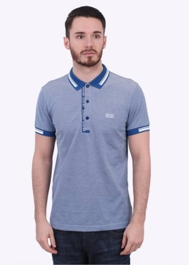 Hugo Boss Green Paule 4 Polo - Medium Blue