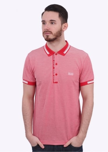 Hugo Boss Green Paule 4 Polo - Open Red