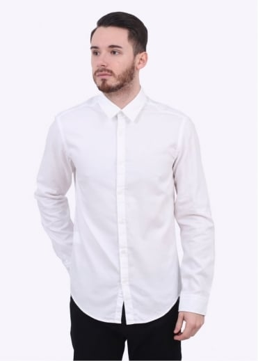 Hugo Boss Green C-Buster LS Shirt - White