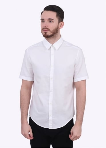 Hugo Boss Green C-Busterino SS Shirt - White