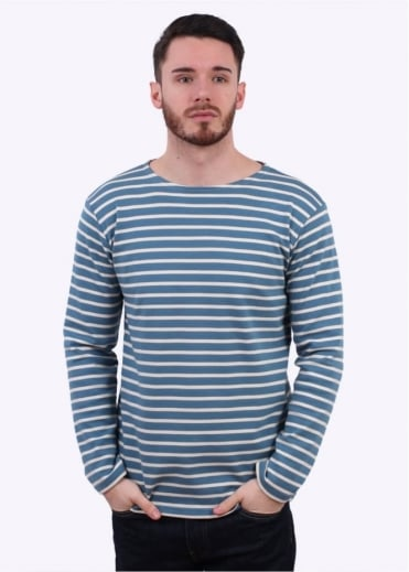 Armor Lux Breton T-Shirt - Blue / Cream