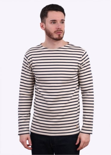 Armor Lux Breton T-Shirt - Cream / Navy