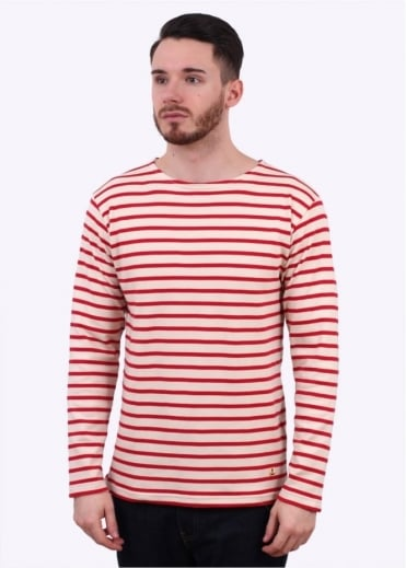 Armor Lux Breton T-Shirt - Cream / Red
