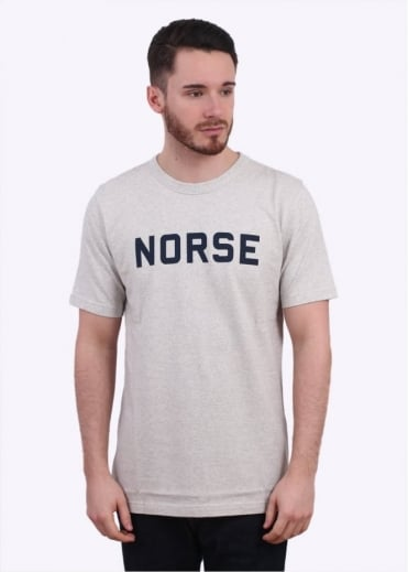 Norse Projects James Mouline Tee - Ecru Melange