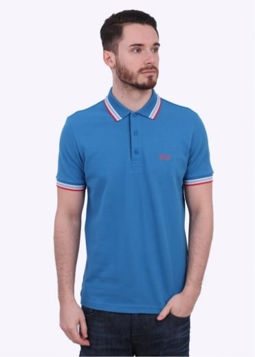 Hugo Boss Green Paddy Polo - Blue / Red