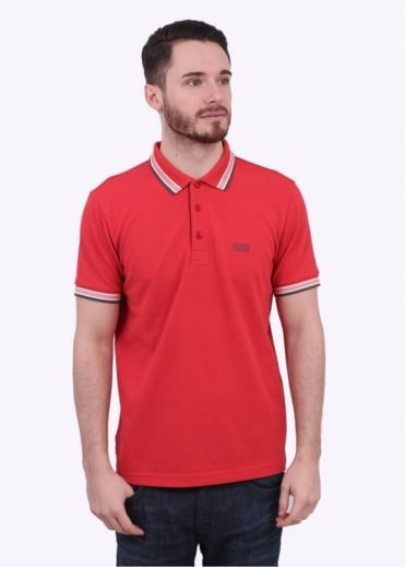 Hugo Boss Green Paddy Polo - Open Red / Brown