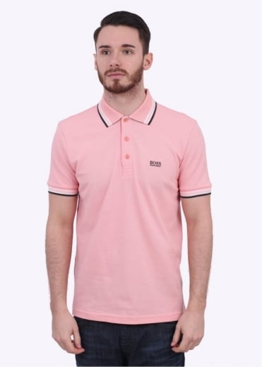 Hugo Boss Green Paddy Polo - Open Pink