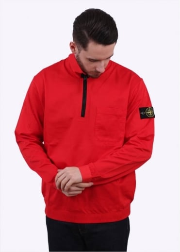 Stone Island 1/4 Zip Felpa Sweater - Red