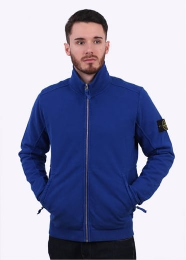 Stone Island Zip Track Top - Bright Blue