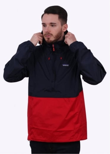 Patagonia Torrentshell Pullover Jacket - Navy & Red