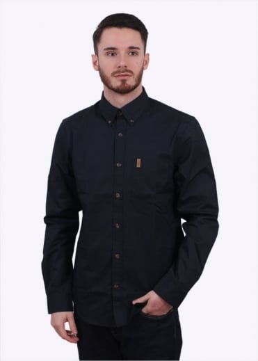 Fjallraven Ovik Solid Twill Shirt - Dark Navy