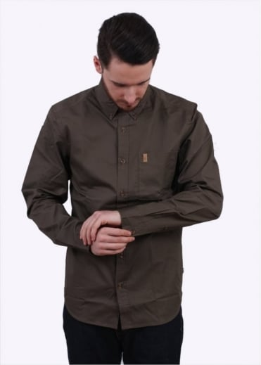 Fjallraven Ovik Solid Twill Long Sleeve Shirt - Tarmac