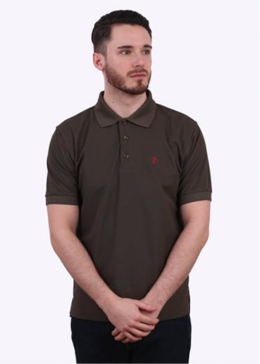 Fjallraven Crowley Pique Polo Shirt - Dark Olive