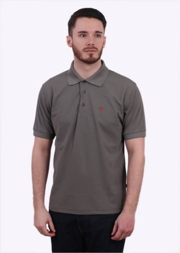 Fjallraven Crowley Pique Polo Shirt - Fog