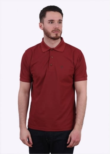 Fjallraven Crowley Pique Polo Shirt - Deep Red