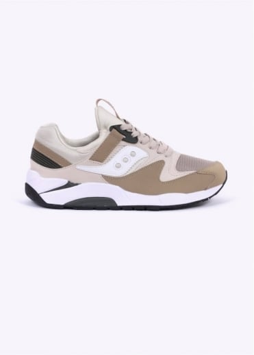 Saucony Grid 9000 Trainers - Sand / Tan