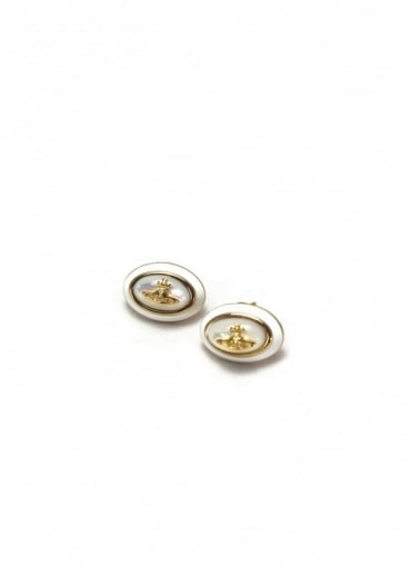 Vivienne Westwood Jewellery Dalia Earrings Gold/White