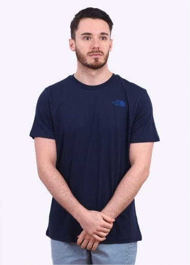 North Face Short Sleeve Dome Tee - Blue