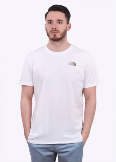 North Face Short Sleeve Simple Dome Tee - White