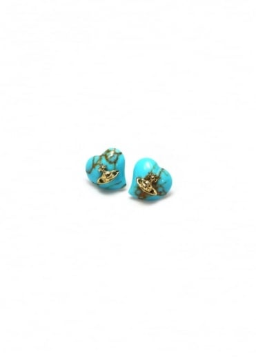 Vivienne Westwood Jewellery Liz Earrings Gold/Turquoise