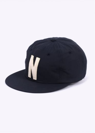 Norse Projects Summer Cotton 6 Panel Cap - Navy