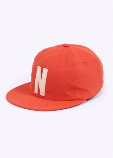 Norse Projects Summer Cotton 6 Panel Cap - Orange