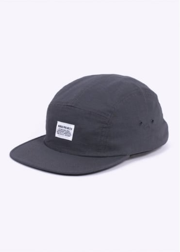 Norse Projects Ripstop 5 Panel Cap - Charcoal