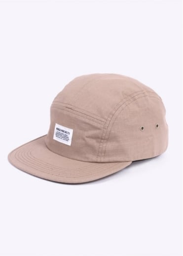 Norse Projects Ripstop 5 Panel Cap - Khaki