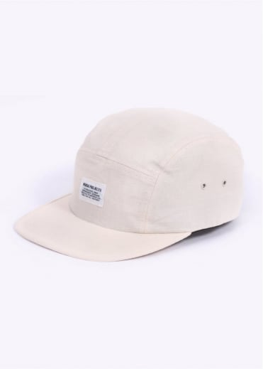 Norse Projects Ripstop 5 Panel Cap - Ecru