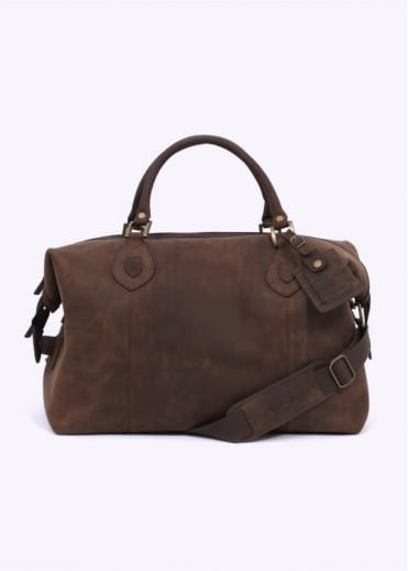 Barbour Lyall Leather Bag - Olive