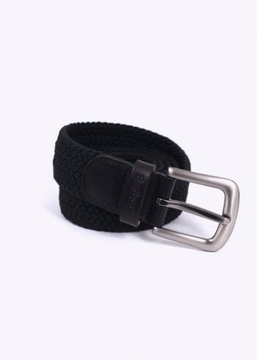 Barbour Stretch Webbin Belt - Black