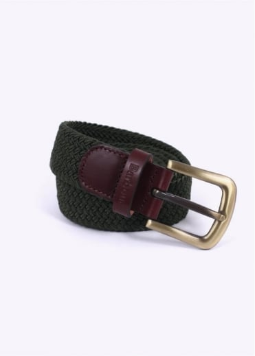 Barbour Stretch Webbin Belt - Khaki