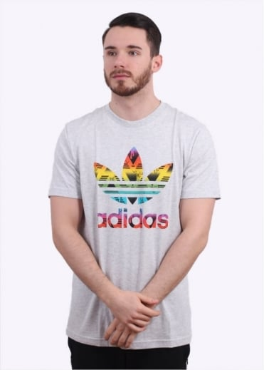 Adidas Originals Apparel Soccurf Trefoil Tee - Grey