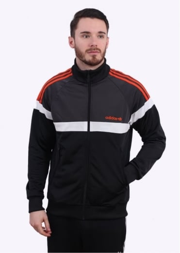 Adidas Originals Apparel Itasca Track Top - Black / Shadow