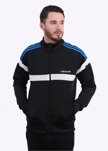 Adidas Originals Apparel Itasca Track Top - Black / Blue