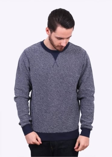 Sunspel Crew Neck Sweater - Navy Melange