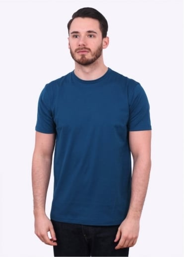 Sunspel SS Crew Neck Tee - Falcon Blue