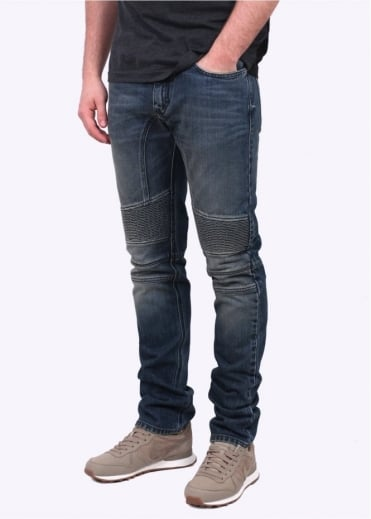 Belstaff Eastham Slim Jeans - Mid Blue Denim